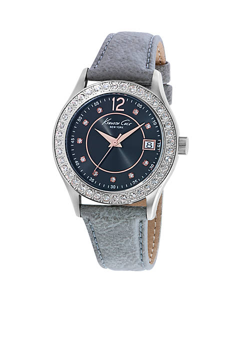 Kenneth Cole Womens Classic Three-Hand Gray Watch