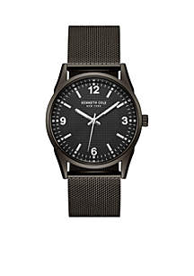 Men's New York Black Mesh Bracelet Watch