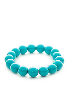 Kim Rogers® Silver-Tone Turquoise Lucite Bracelet