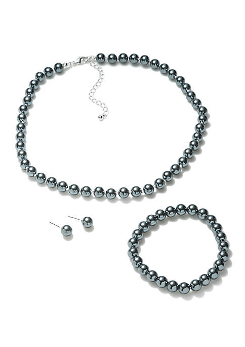 Kim Rogers® 8 mm Pearl Necklace Bracelet and
