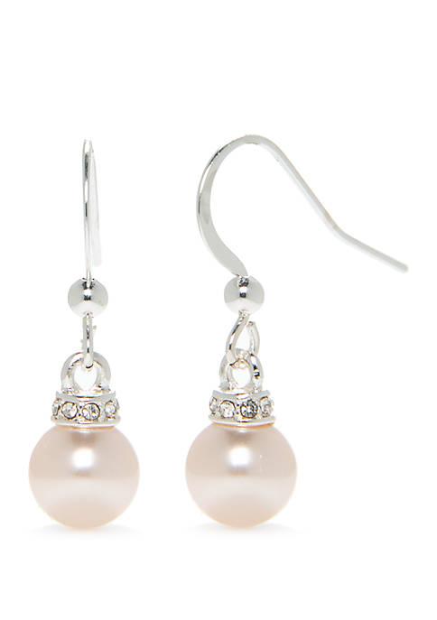 Mauve Pearl Drop Earrings