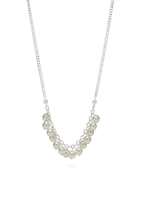 White Pearl Front Necklace