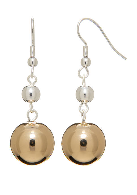 Kim Rogers® 2 Tone Linear Drop Earrings