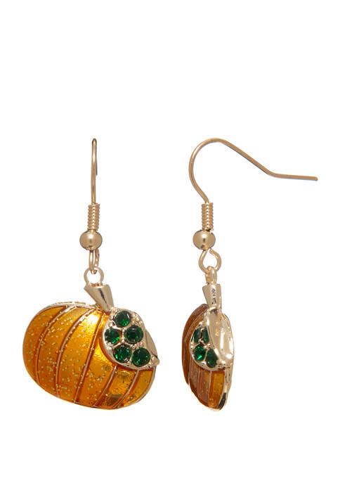 Kim Rogers® Pumpkin Drop Earrings