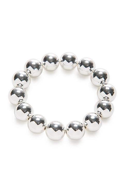 Kim Rogers® Silver-Tone Bead Stretch Bracelet