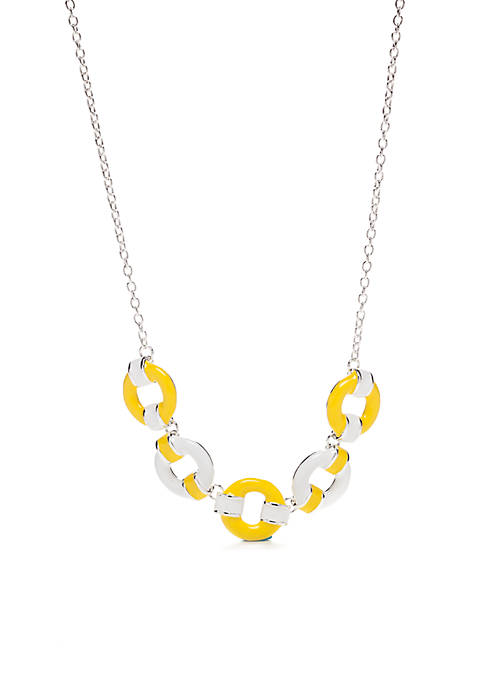 Kim Rogers® Silver-Tone Circle Necklace