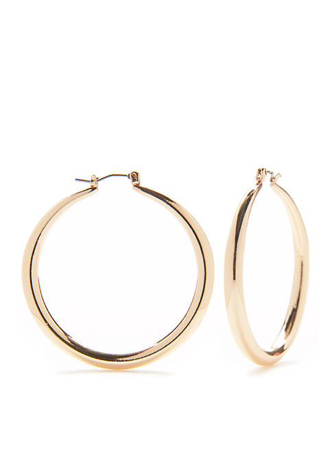 Kim Rogers® Sensitive Skin Gold-Tone Hoop Earrings