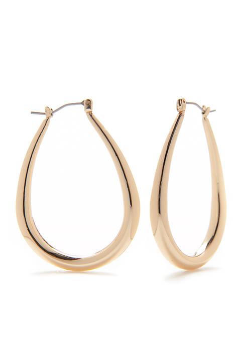 Kim Rogers® Sensitive Skin Gold-Tone Oval Hoop Earrings