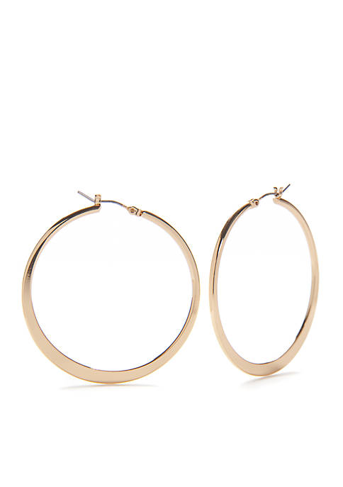 Kim Rogers® Gold-Tone Sensitive Skin Large Hoop Earrings