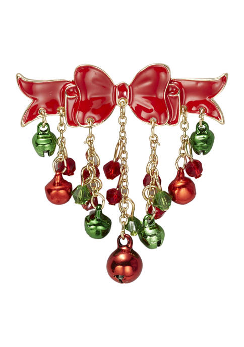 Kim Rogers® Holiday Bow and Ornament Pin