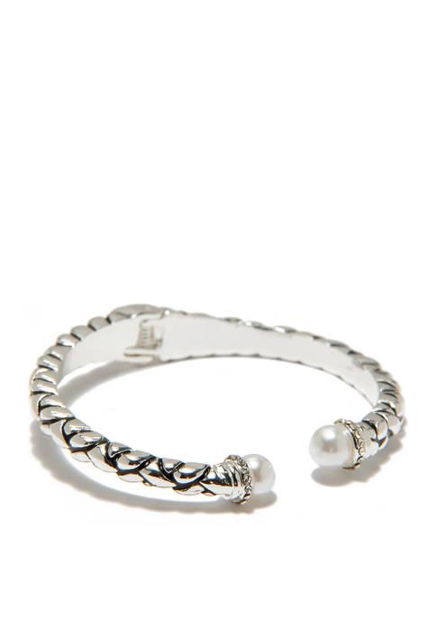 Kim Rogers® Bali Hinged Bracelet Pearl