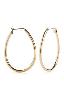 Kim Rogers® Gold-Tone Large Teardrop Hoop Earrings