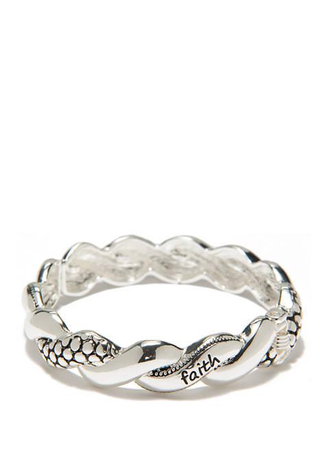 Kim Rogers® Love Swirl Silver Bracelet