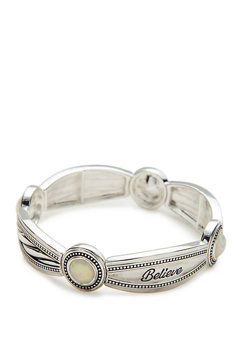 Inspirational Opal Believe Bracelet