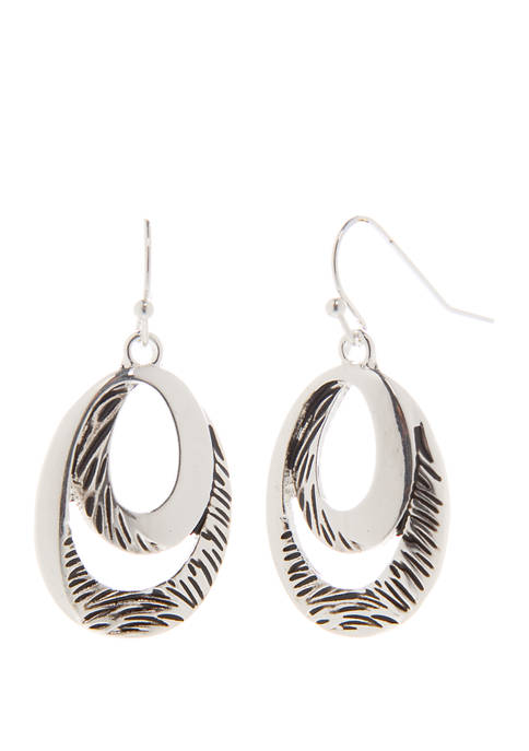 Kim Rogers® Bali Twist Double Oval Drop Earrings