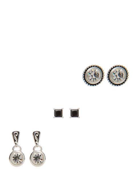 Kim Rogers® Multi Shape Crystal Earring Set