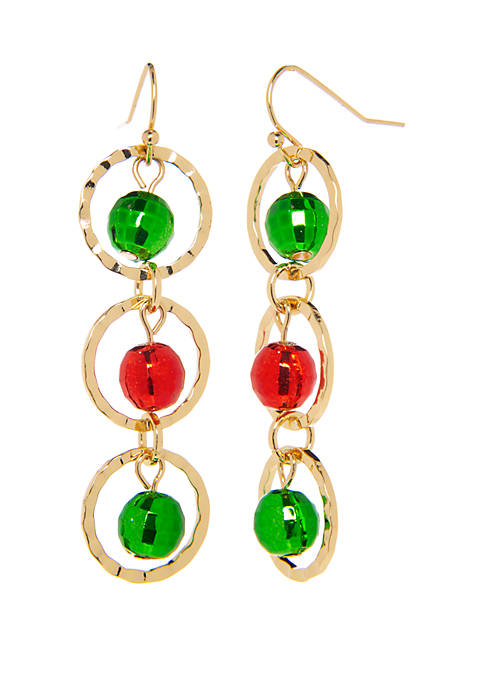 Kim Rogers® 3 Wreath Drop Earrings