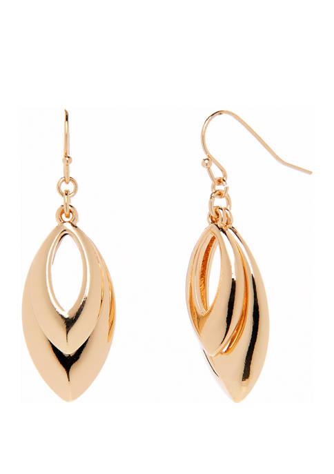 Double Navette Drop Earring