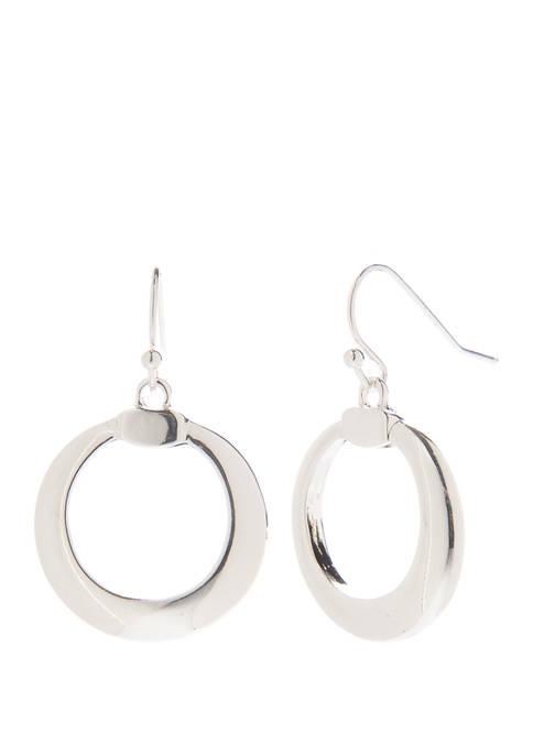 Kim Rogers® Round Link Drop Earrings