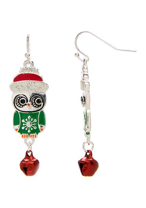 Kim Rogers® Owl Drop Earrings