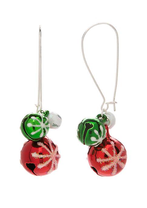 Kim Rogers® Jingle Bell Drop Earrings