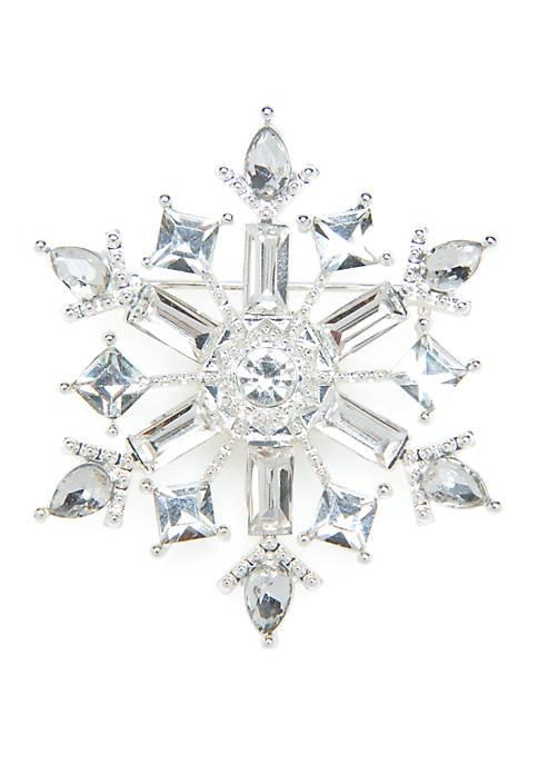 Kim Rogers® Crystal Snowflake Pin