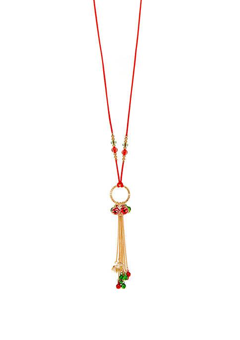 Joyland Multi Color Tassel Ornament Necklace