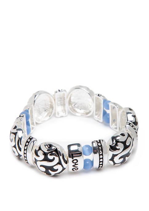 Kim Rogers® Love Blue Stretch Bracelet
