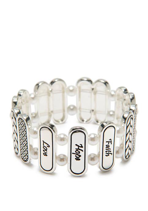 Kim Rogers® Faith Love Hope Bracelet