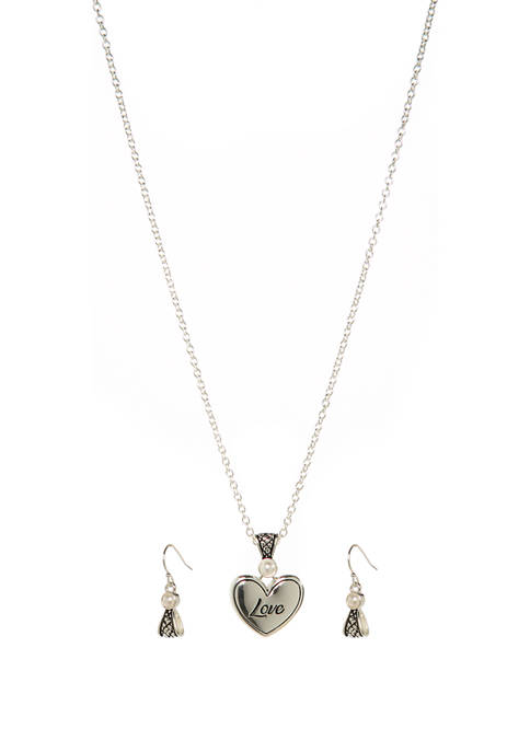 Kim Rogers® 2 Piece Love Heart Earrings and
