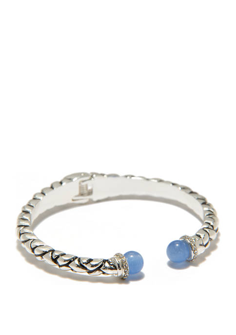Kim Rogers® Bali Hinged Bracelet Blue