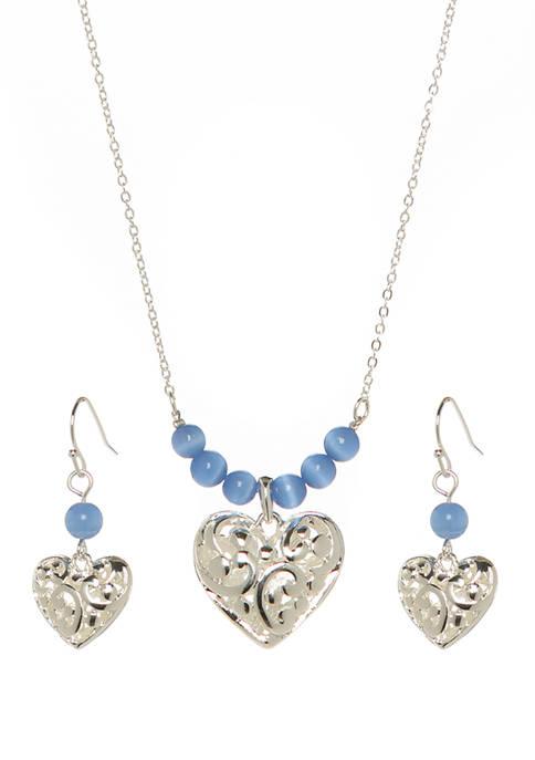 Kim Rogers® Bali Heart Blue Set