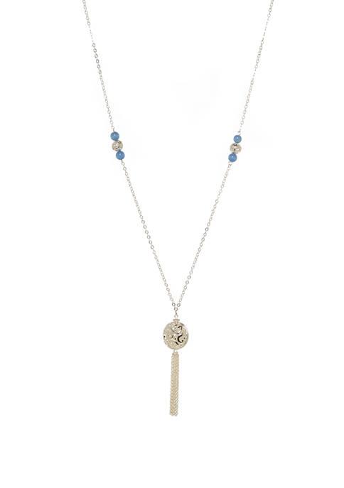Kim Rogers® Round Drop Pendant Necklace