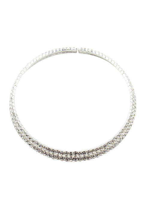 Kim Rogers® Silver Collar Necklace