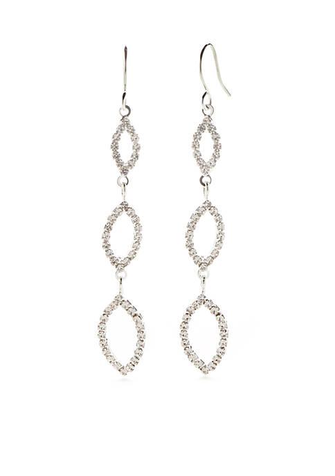 Kim Rogers® Graduated Open Navette Stone Drop Earring