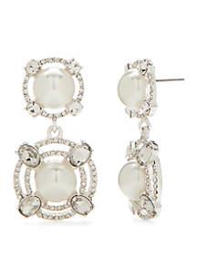 Kim Rogers® Silver-Tone Door Knocker Earrings