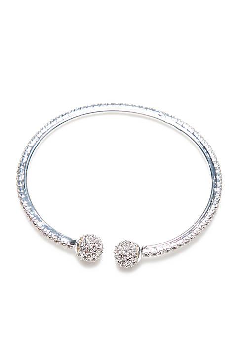 Kim Rogers® Silver-Tone Fireball Cuff Bracelet