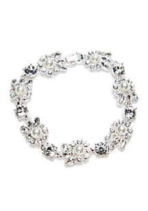 Silver-Tone Cluster Bracelet
