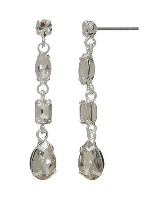 Kim Rogers® Crystal Linear Drop Earrings