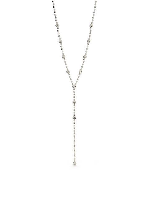 Silver Cluster Y Necklace