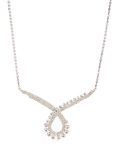 Silver Tone Collar Necklace