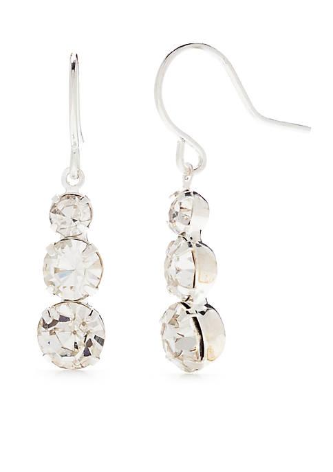 Drop Silver Statement Earrings