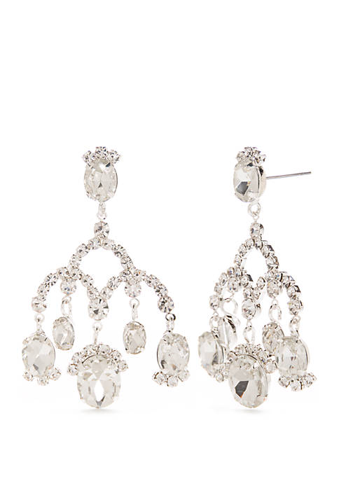 Kim Rogers® Silver Tone Drop Earrings