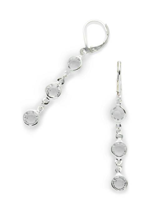 Silver Tone Linear Earrings