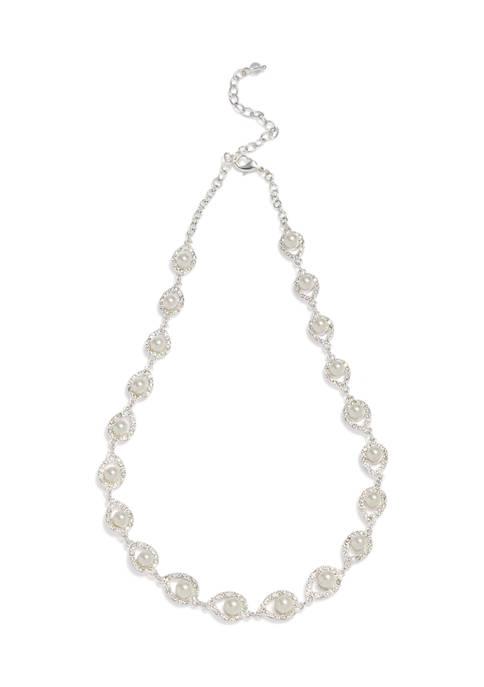 Kim Rogers® Pear Shape Silver Tone Necklace
