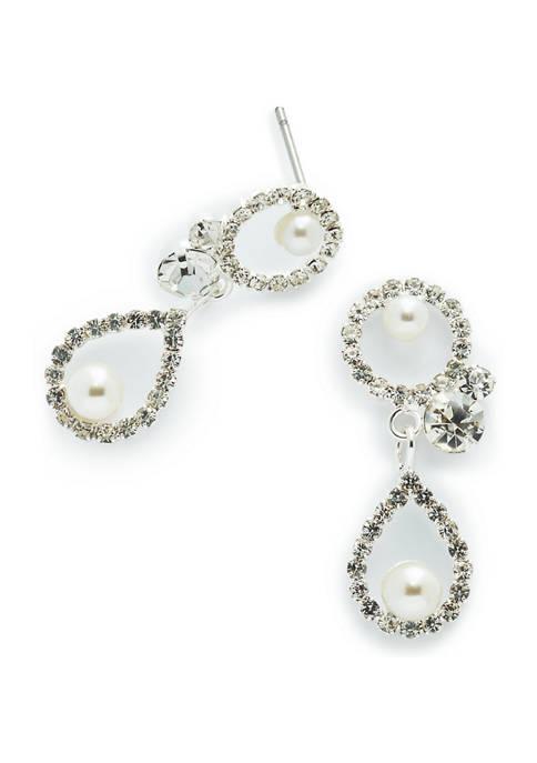 Circle Pear Shape Earrings