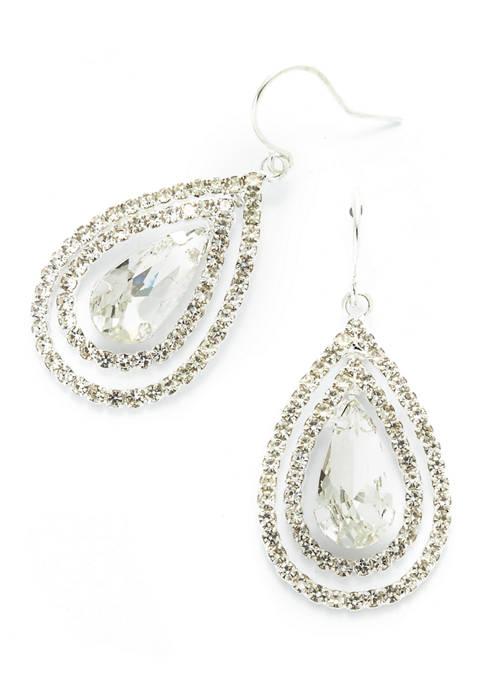 Pear Shape Drop Earrings