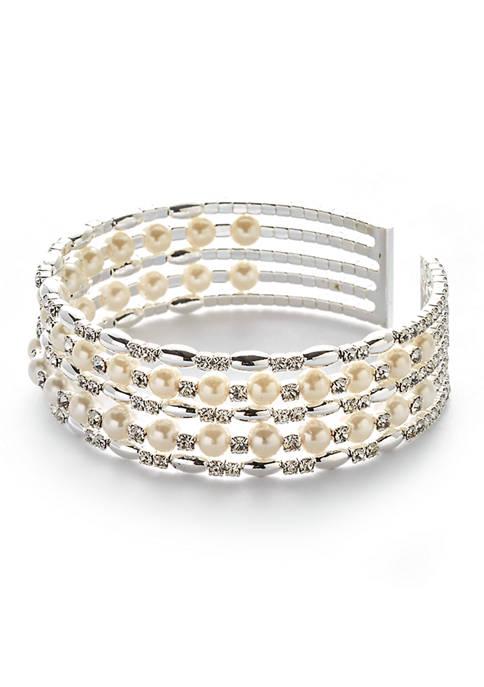Kim Rogers® Silver Tone Cuff Bracelet