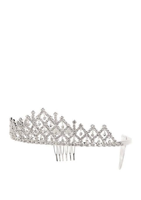 Kim Rogers® Silver-Tone Crystal Tiara
