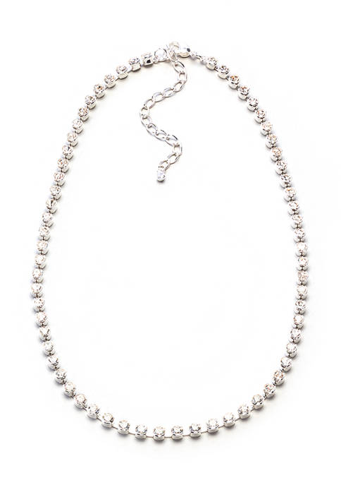 16 Inch Silver Statement Necklace